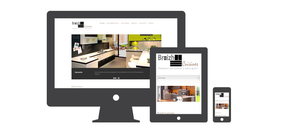 creation site responsive design quimper brest