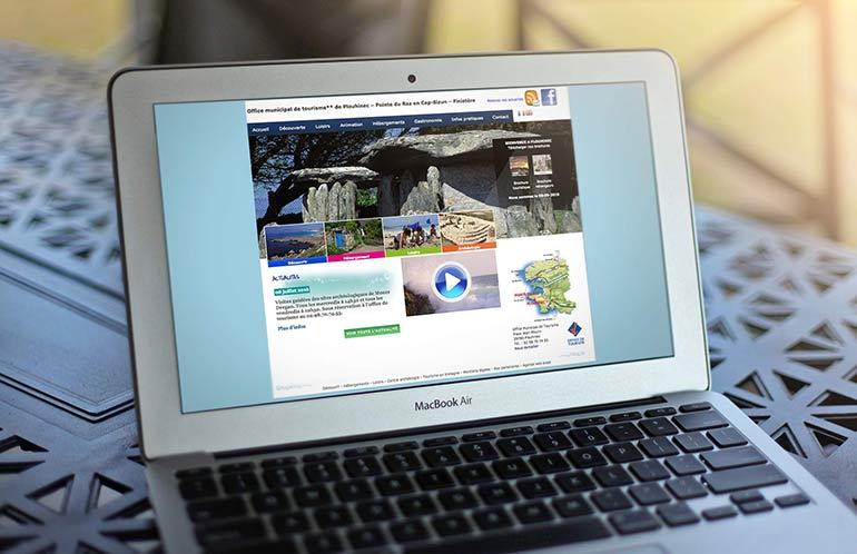 Komelya agence web quimper cr ation du site de locarmor agence komelya - Office tourisme plouhinec ...