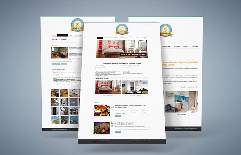 création site internet location gite quimper