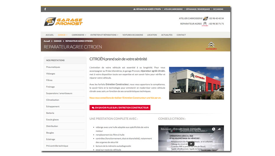 creation site internet brest