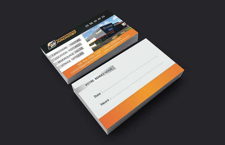 création carte de visite brest