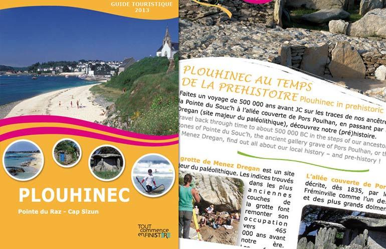 création guide touristique plouhinec