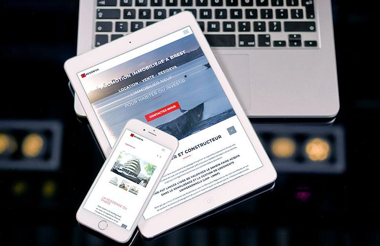 creation site agence immobilière brest nantes